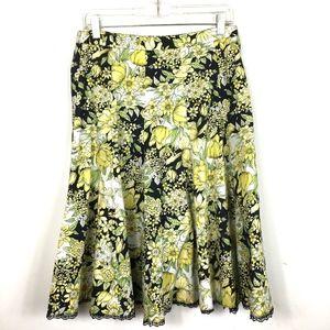 3/$25 Dressbarn Yellow black Midi Skirt 6